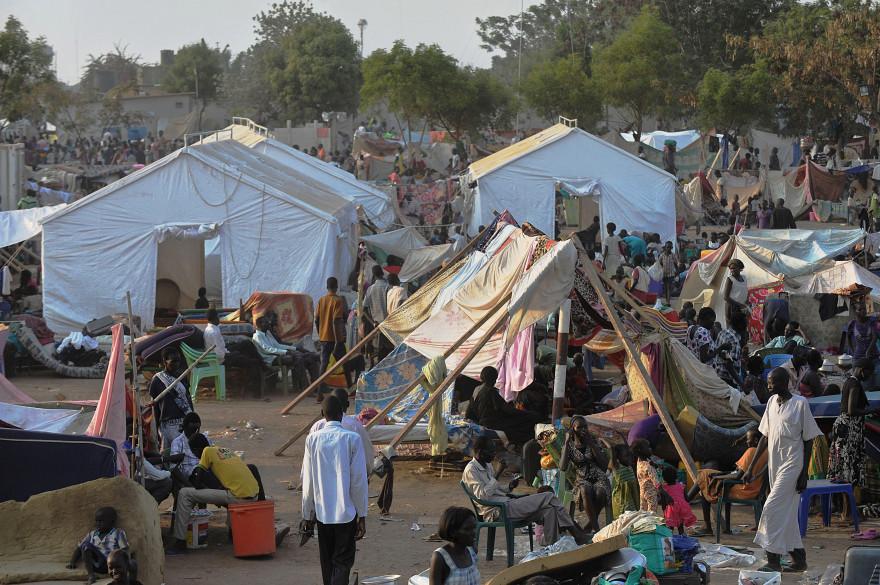 Un camp de réfugiés à Juba au Soudan du Sud