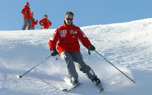 Michael Schumacher à ski en janvier 2005.