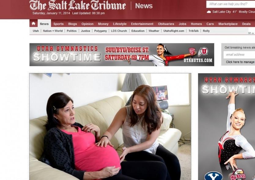 Julia Navarro explique ce qui l'a poussé à porter sa petite-fille au salt lake tribune (capture écran)