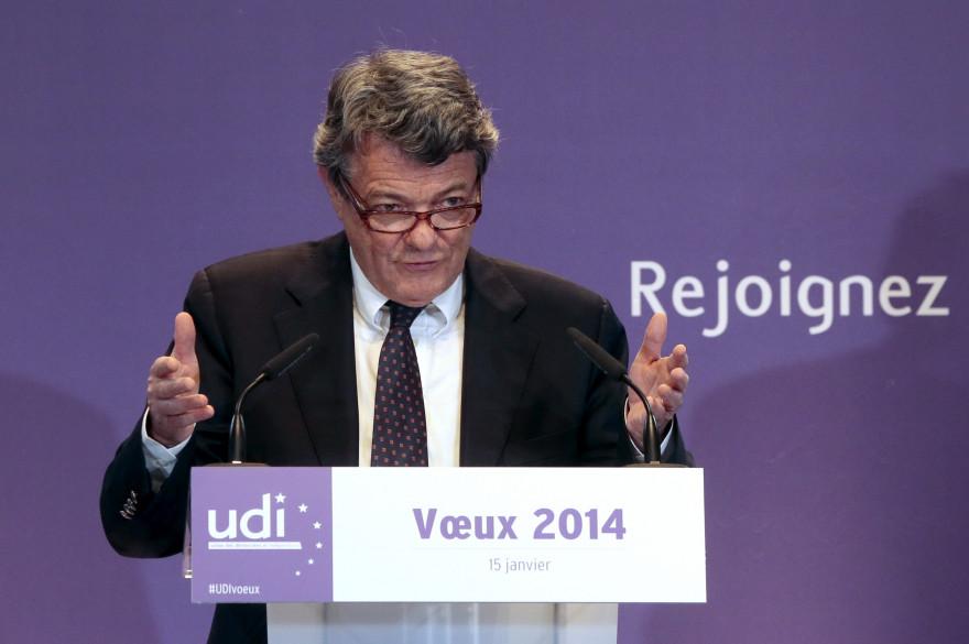 Jean-Louis Borloo, le patron de l'UDI, a présenté ses voeux pour 2014, le 15 janvier.