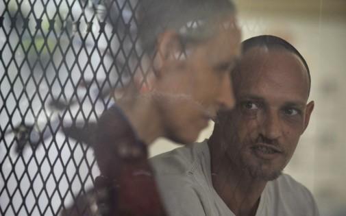 Michaël Blanc et sa mère, photographiés en avril 2011 à la prison de Djakarta