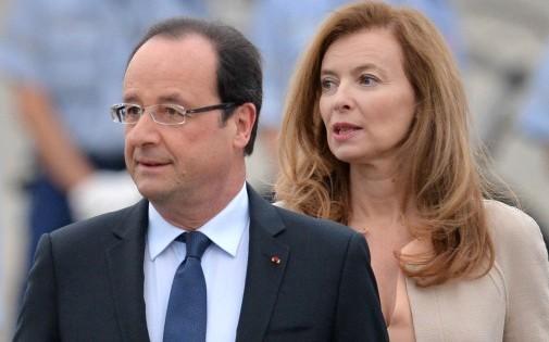 L'ancienne Première dame, Valérie Trierweiler, et le chef de l'État, le 6 juin 2013.