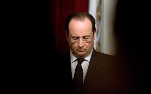 François Hollande à l'Élysée, le 23 janvier 2014.