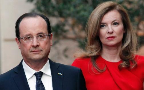 François Hollande et Valérie Trierweiler, le 7 mai 2013