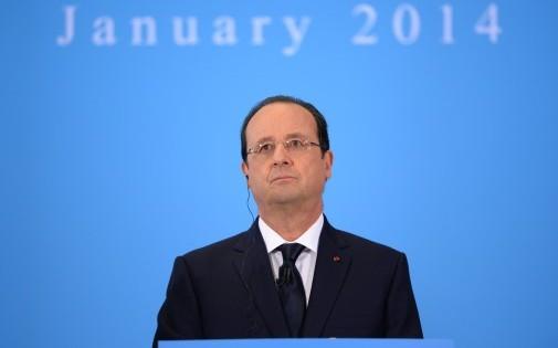 François Hollande participant au sommet franco-britannique du 31 janvier 2014