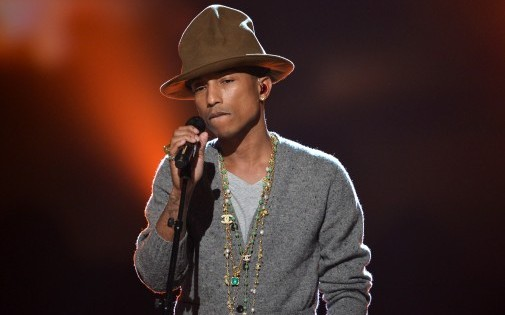 Pharrell Williams le soir des Grammy Awards dimanche 27 janvier 2014 (illustration)