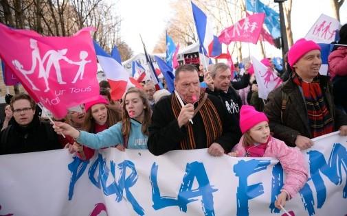 """La """"Manif pour Tous"""" du 2 février 2014 à Paris."""