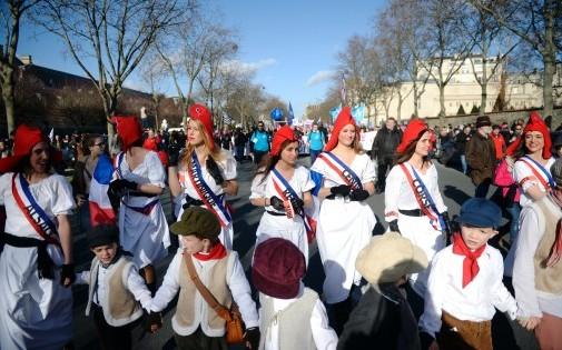 La Manif pour Tous à Paris le 2 février 2014.