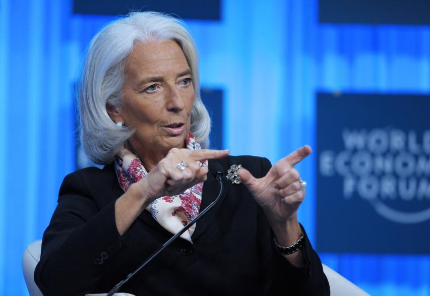 La directrice générale du FMI Christine Lagarde le 25 janvier 2014.