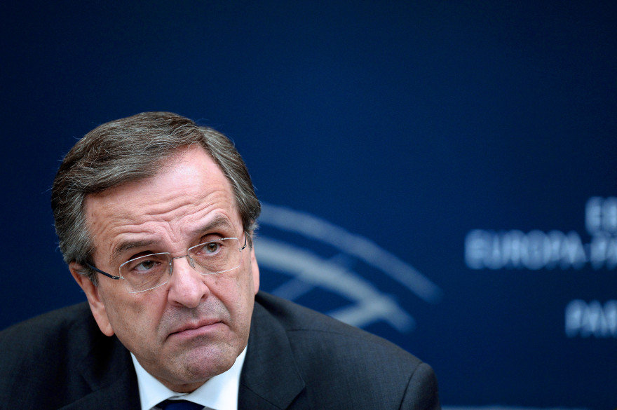 Le Premier ministre grec Antonis Samaras à Strasbourg le 15 janvier 2014.