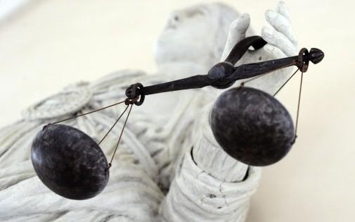 Photo d'illustration de la statue de la Justice prise à Rennes le 8 février 2011.