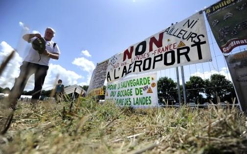 Des opposants à l'aéroport Notre-Dame-des-Landes le 3 août 2013.