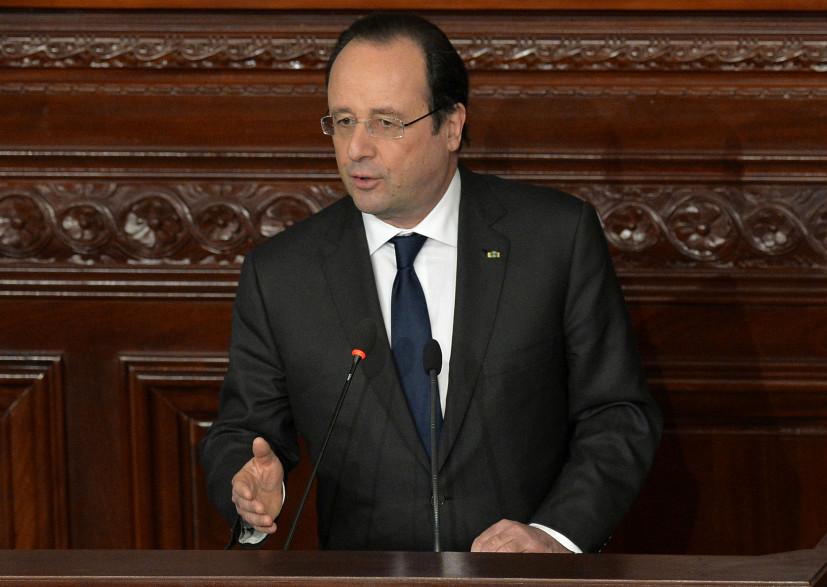 François Hollande, le 7 février 2014, à Tunis. (archives)