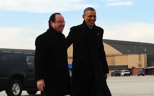François Hollande et Barack Obama aux États-Unis, le 10 février 2014