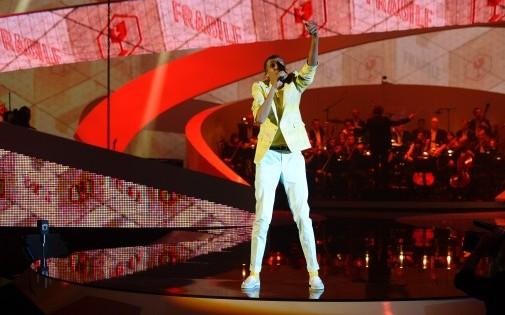 Stromae aux Victoires de la Musique 2014 au Zénith de Paris le 14 février 2014