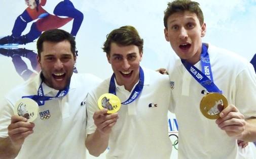 Le triplé français en ski cross