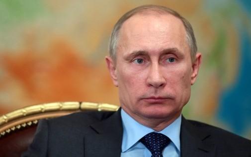 Vladimir Poutine, président de la Fédération de Russie, le 26 février 2014 dans sa résidence de Novo-Ogaryovo (illustration)