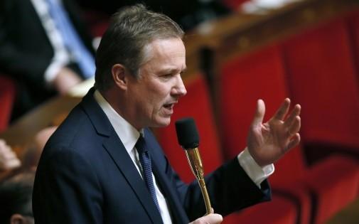 Nicolas Dupont-Aignan, député de l'Essonne, à l'Assemblée nationale le 7 janvier 2014