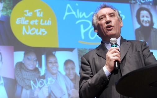 François Bayrou, président du MoDem et candidat à la mairie de Pau, le 14 février 2014