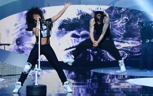 Shaka Ponk lors des Victoires de la musique en février.