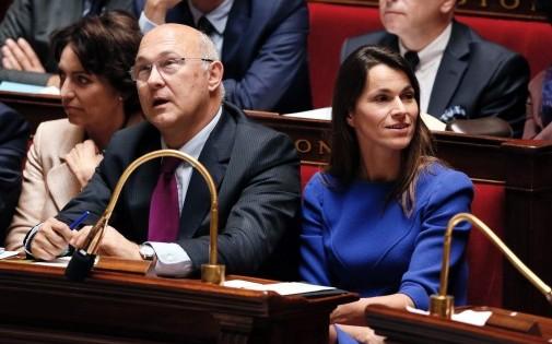 Michel Sapin et Aurélie Filippetti à l'Assemblée nationale le 3 juillet 2012 (photo d'Archives).