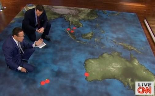 """Un plateau de """"CNN"""" consacré à la disparition de l'avion (illustration)"""