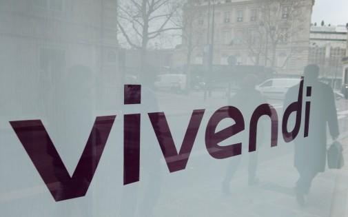 Le logo de Vivendi au siège à Paris le 26 février 2013.
