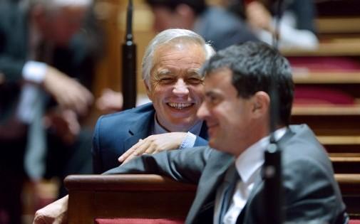 François Rebsamen et Manuel Valls, le 16 octobre 2012