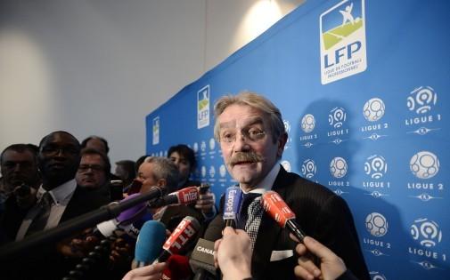 Frédéric Thiriez après l'attribution des droits tv de la Ligue 1, le 4 avril 2014