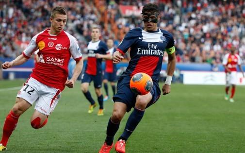 Thiago Silva face à Reims, le 5 avril 2014