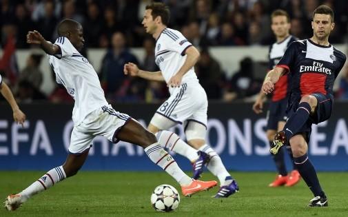 Thiago Motta lors de PSG-Chelsea le 2 avril 2014