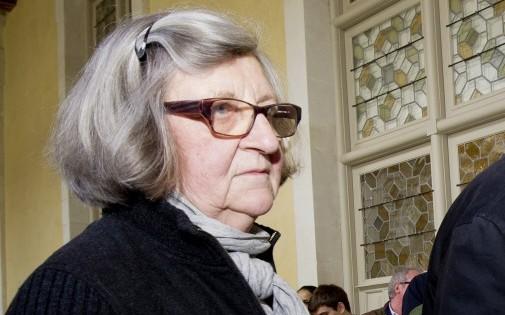 La soeur d'Agnès Le Roux, Catherine, le 17 mars 2014.