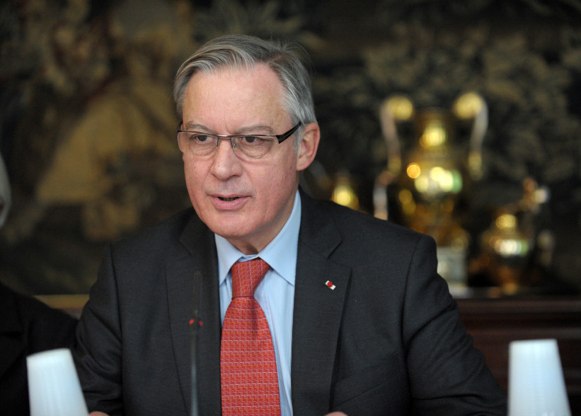 Christian Noyer, gouverneur de la Banque de France, le 24 mars 2014. (archives)
