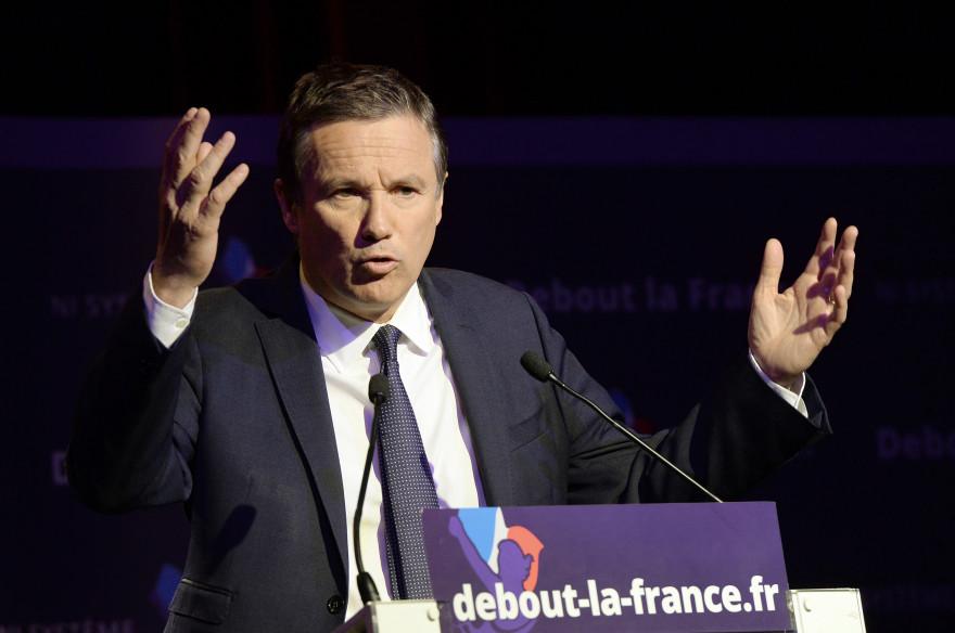 Le président de Debout la République, Nicolas Dupont-Aignan, le 13 avril 2014 à Paris (Archives).