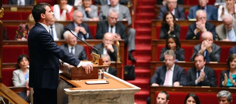 Manuel Valls lors de son discours de politique générale, le 8 avril 2014.