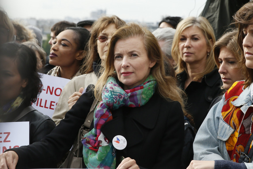 Valérie Trierweiler était présente au rassemblement, au Trocadéro, le 13 mai, pour soutenir les filles enlevées par la secte Boko Haram