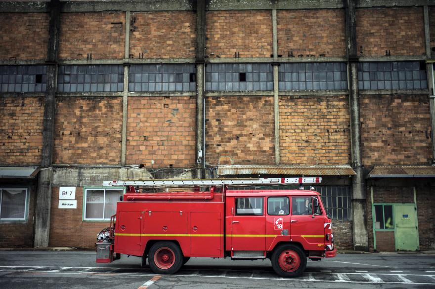 Un camion de pompiers, à Gueugnon, le 24 décembre 2012. (archives)