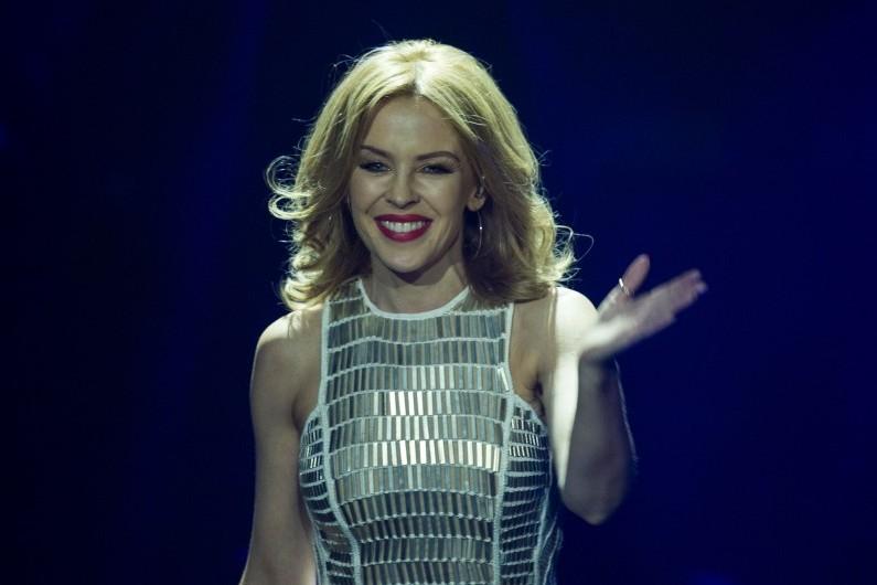 Kylie Minogue, lors d'un concert à Berlin le 27 mars 2014