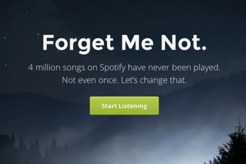 Forgotify, la plateforme en ligne des musiques que personne n'écoute