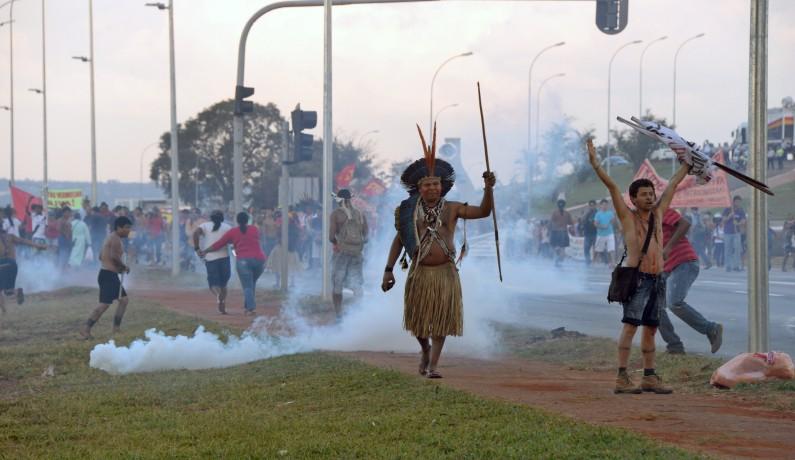 Manifestants à Brasilia le 27 mai 2014.