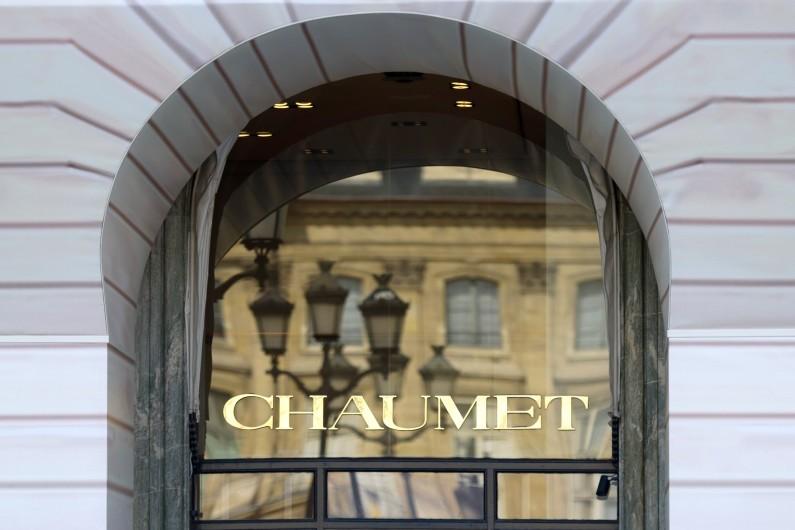 La devanture de la bijouterie Chaumet place Vendôme à Paris.