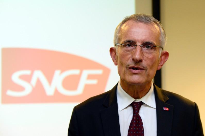Guillaume Pepy, lors d'une conférence de presse le 21 mai 2014