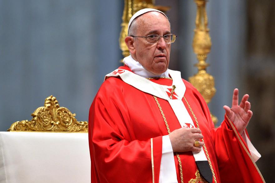 Le pape François lors de la messe de la Pentecôte, le 8 juin 2014.