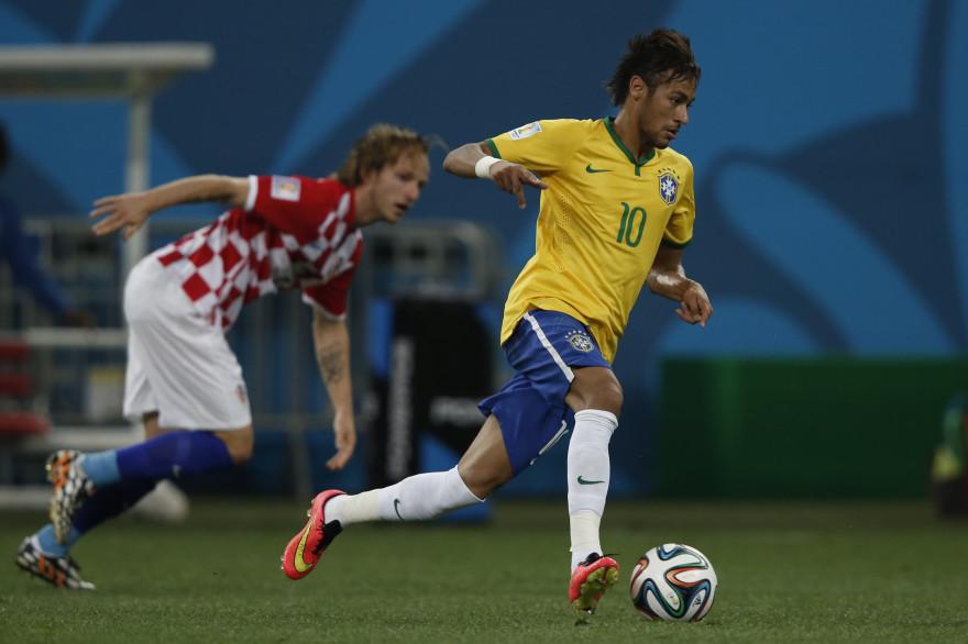Neymar lors du match d'ouverture du Mondial 2014 entre le Brésil et la Croatie, le 12 juin 2014