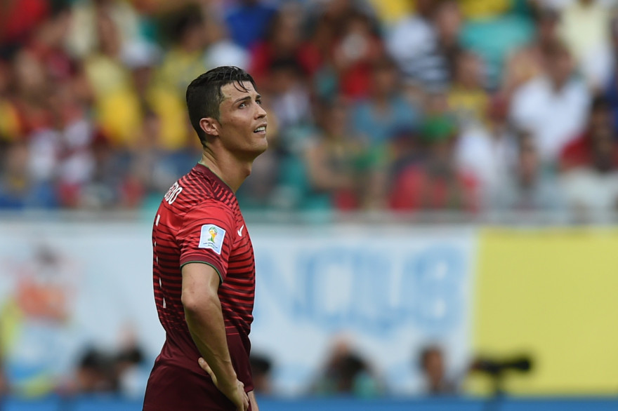 Cristiano Ronaldo lors de la défaite du Portugal face à l'Allemagne, le 16 juin 2014