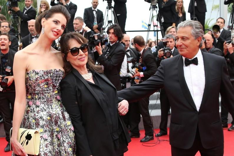 Frédérique Bel, Chantal Lauby et Christian Clavier à Cannes, le 22 mai 2014.