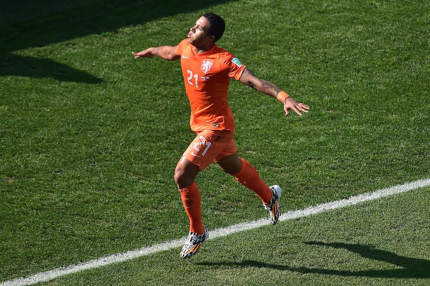 Memphis Depay sous le maillot des Pays-Bas en juin 2014