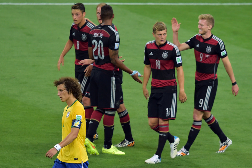 Les allemands corrigent le Brésil en demi-finale lors du Mondial 2014