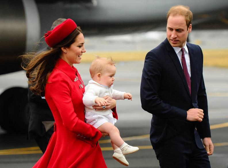 Kate Middleton, le prince George et le prince William en voyage en océanie en avril 2014