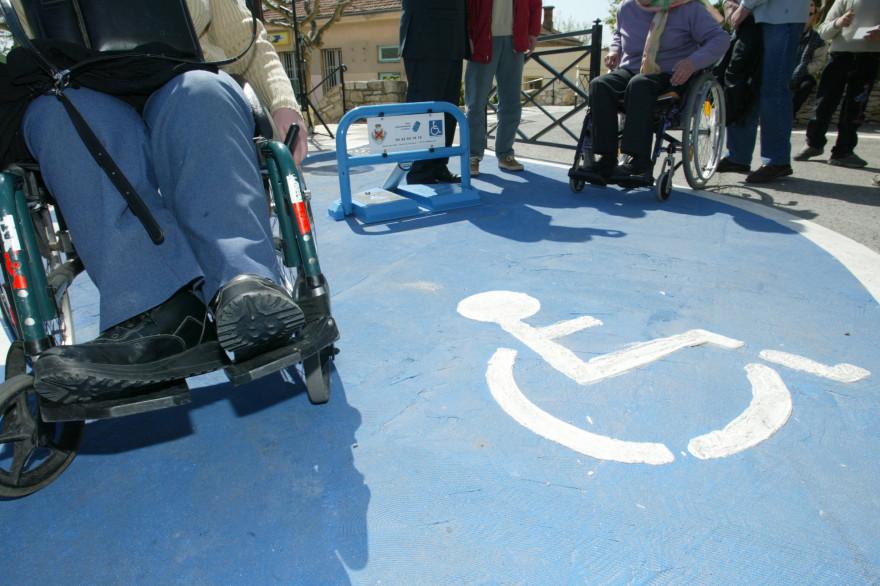 Une place réservée aux handicapés (illustration)